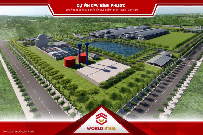 Dự án nhà thép tiền chế CPV Bình Phước