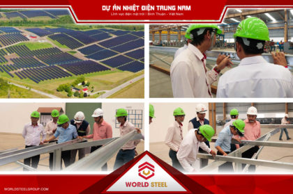 dự án cung cấp kết cấu thép nhiệt điện trung nam