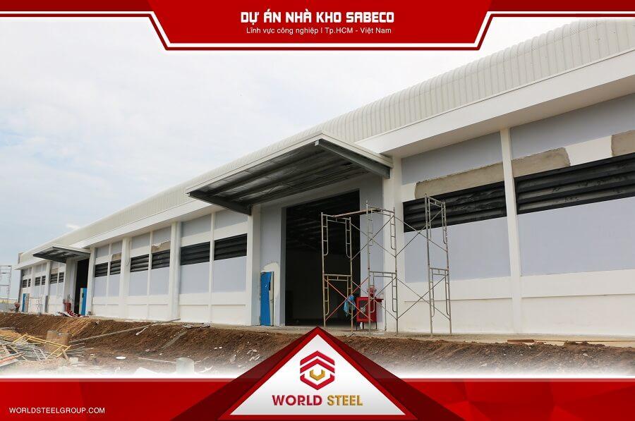 nhà kho sabeco được công ty nhà thép tiền chế World Steel xây dựng