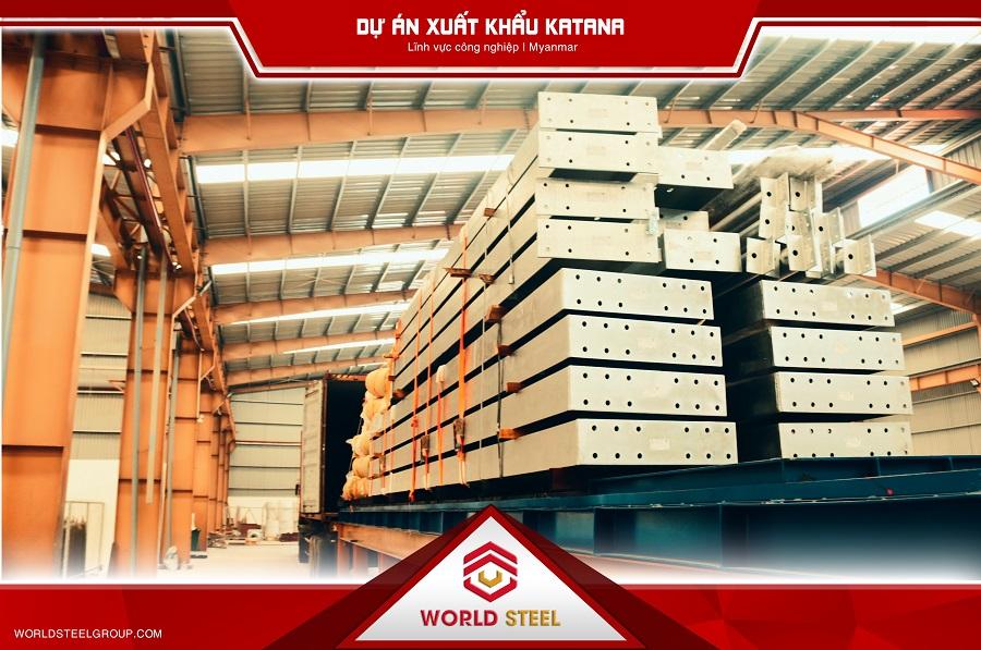 Xuất khẩu kết cấu thép Myanmar